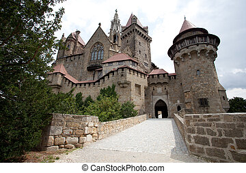 Kreuzenstein Castle, locally known as Burg Kreuzenstein,...