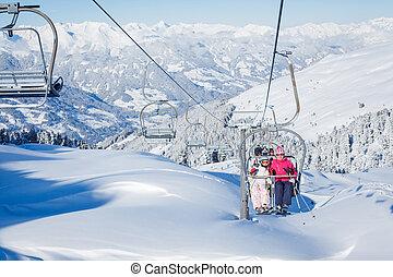Skiing resort in Austria - The Alpine skiing resort in...