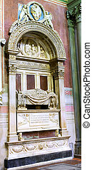 Statue in Duomo Santa Maria Del Fiore. Florence. - Statue in...