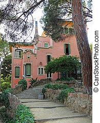 Guell Park, Barcelona, Spain.