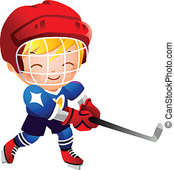 Girl ice hockey player