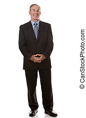 mature business man - senior business man wearing suit on...