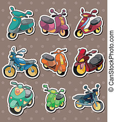 cartoon motorcycle stickers