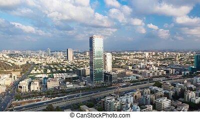 Tel Aviv Time Lapse - Tel Aviv Aerial View Cityscape - Time...