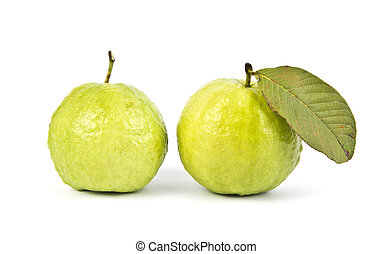 Guava - Fresh guava fruit isolated on white background