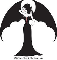 vampire, dame