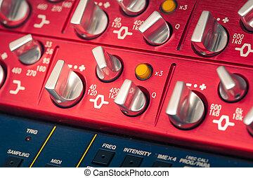 professional audio equipment detail