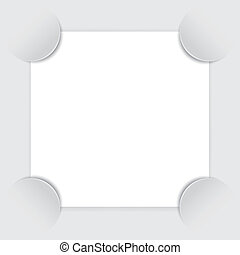 Photo frame corners, vector
