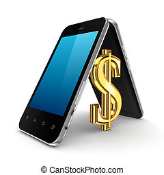 Dolar sign icon under the roof. - Dolar sign icon under the...