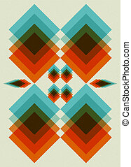 Retro pattern Book cover Background design
