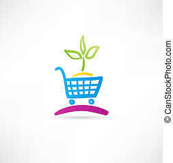 Symbol is ecological shopping