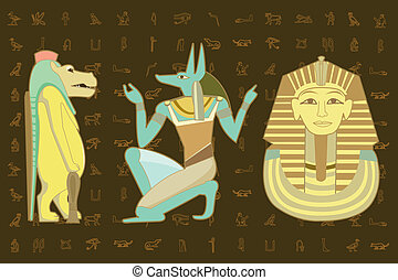 elements of the Egyptian decorative character design