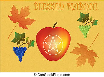 Sacred Mabon - Mabon greeting card