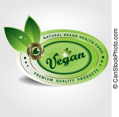 vegan vector label/sticker/emblem