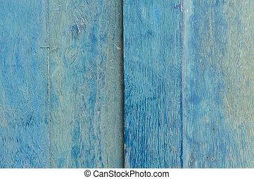 Blue painted wooden door