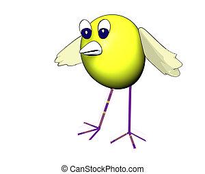 3d cute bird