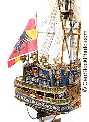 Detail Spanish Galleon - Detail back of Spanish galleon