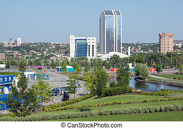 View on Donetsk city. Ukraine. - View on the Donetsk city....