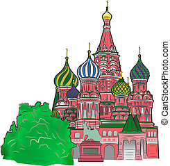 St Basil vector illustration color