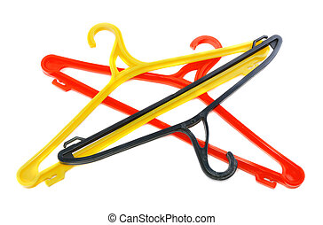 Red clothes hanger Isolated - Red clothes hanger isolated...