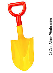 Toy spade - Toy small spade isolated on white background