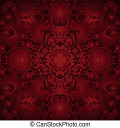 maroon background with ornaments - seamless