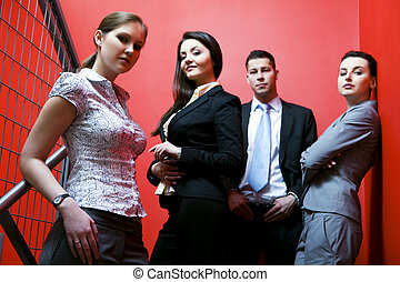 Business together - Business group portrait - Team of Young...