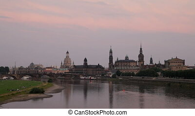 Dresden, Germany - Panorama of Dresden Germany in the...