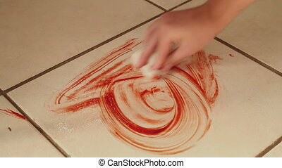 Cleaning Blood From Tile Floor - Cleaning up Blood From a...