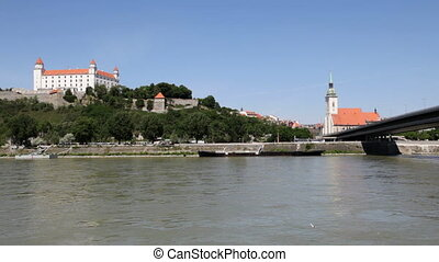 Bratislava, Slovak Republic - Panorama of the Slovak capital...