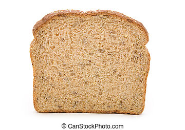 Sliced Brown Bread close up shot