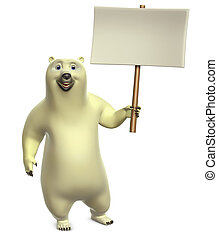 cartoon polar bear