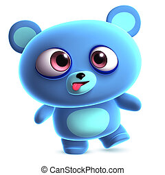 crazy blue bear