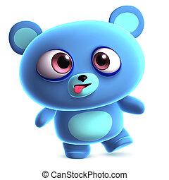 crazy blue bear
