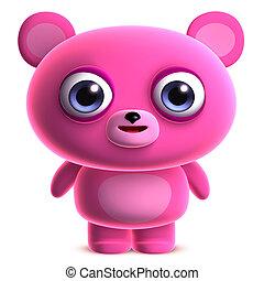 cute pink bear