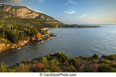 Seascape in Mani, Greece - Image shows a very picturesque...