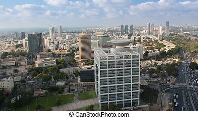 Cityscape Time Lapse - Tel Aviv Aerial View - Time Lapse