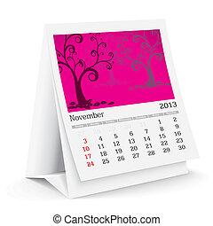 november 2013 desk calendar - 2013 desk calendar - vector...