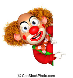 3d clown - cartoon clown