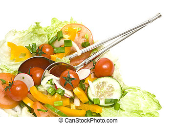 Salad - Fresh salad made of vegetables like tomatoes or...