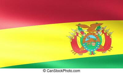 Bolivia Flag Waving