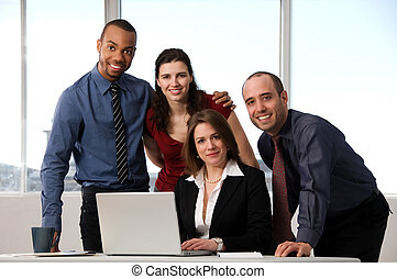 Business Team - business people at the office as a team