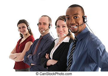 Customer Service - customer service representatives on a...