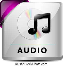 Audio download button/icon - Originally designed audio...