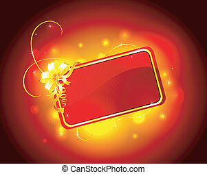 Present red card - Vector illustration of Present red card