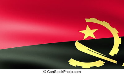 Angola Flag Waving