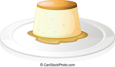 Puding - illustration of a puding on a white background
