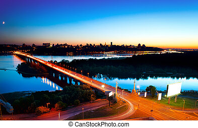 Kiev City - the capital of Ukraine. Night View