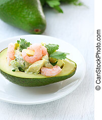 Avocado and Shrimps Salad Appetizer