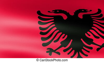 Albania Flag Waving